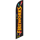 Fireworks Feather Flag 12ft Poly Knit