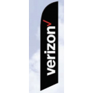 Verizon Feather Flag Black 12ft Poly Knit
