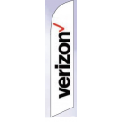 Verizon Feather Flag White 12ft Poly Knit