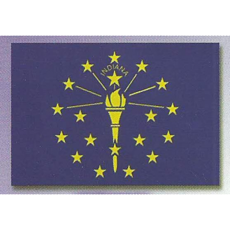3 X 5 INDIANA State Flag width=
