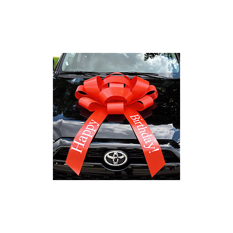 Giant Magnetic HAPPY BIRTHDAY Car Bow width=