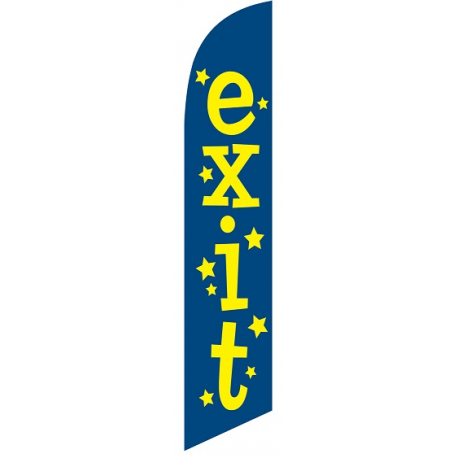 Exit Feather Flag width=