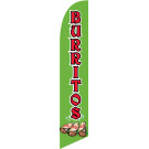 Burritos Feather Flag Green 12ft Poly Knit