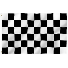 black & white 3x5 checkered flag heavy duty