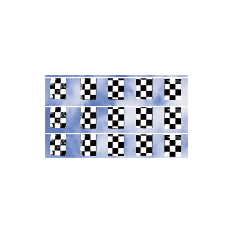 Cloth Checkered Rectangle Pennants 50ft width=