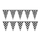 Cloth Checkered Triangle Pennants 50ft