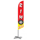 Rim Sale feather flag red