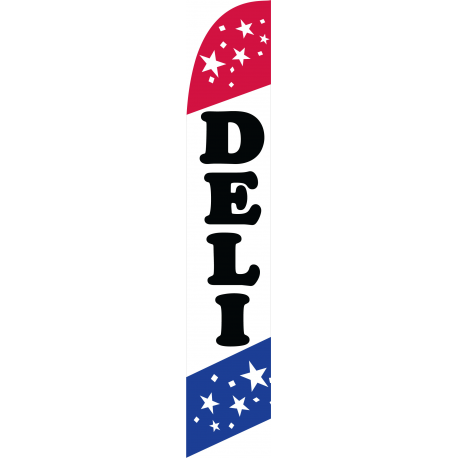 Deli Feather Flag Patriotic 12ft Poly Knit width=