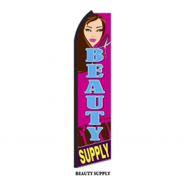 beauty supply feather flag width=