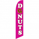 Donuts Feather Flag Pink 12ft Poly Knit