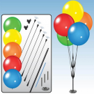 DuraBalloon Cluster Pole Kit - Multicolor