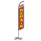 Auto Repair Feather Flag Red 12ft Poly Knit