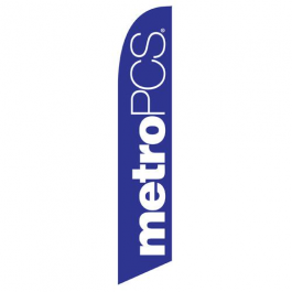 Metro Pcs Feather Flag Purple 12ft Poly Knit width=