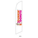 Dunkin Donuts White Feather Flag 12ft Poly Knit