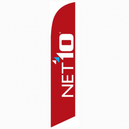 Net10 Wireless Feather Flag Red 12ft Poly Knit width=