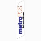 MetroPCS Authorized Dealer Feather Flag White 12ft Poly Knit