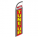 Auto Tune-up Feather Flag Red Checkered 12ft Poly Knit