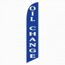 Oil Change Feather Flag Blue 12ft Poly Knit