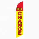Oil Change Feather Flag Yellow & Red 12ft Poly Knit