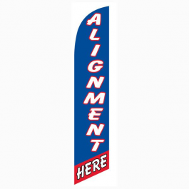 Alignment Here Feather Flag Blue & Red 12ft Poly Knit width=