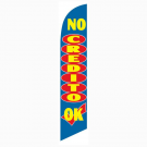 No Credito OK Feather Flag Blue 12ft Poly Knit