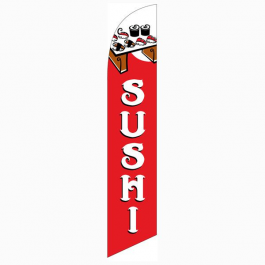 Sushi Feather Flag Red 12ft Poly Knit width=
