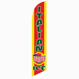Italian Ice Feather Flag Red & Yellow 12ft Poly Knit width=