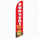 Burgers Feather Flag Red 12ft Poly Knit