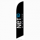 Net10 Wireless Feather Flag Black 12ft Poly Knit