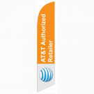 AT&T Authorized Retailer Feather Flag Orange & White 12ft Poly Knit