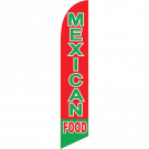 Mexican Food Feather Flag Red & Green 12ft Poly Knit
