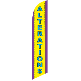 Alterations Feather Flag 12ft Poly Knit width=