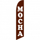 Mocha Feather Flag Brown 12ft Poly Knit