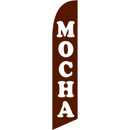 Mocha Feather Flag Brown 12ft Poly Knit width=