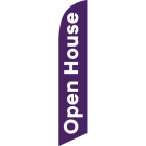 Open House Feather Flag Purple 12ft Poly Knit