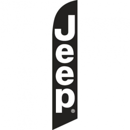 Jeep Feather Flag Black 12ft Poly Knit width=