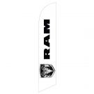 Dodge Ram Feather Flag Black 12ft Poly Knit
