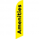 Amenities Feather Flag Yellow 12ft Poly Knit