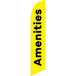 Amenities Feather Flag Yellow 12ft Poly Knit width=