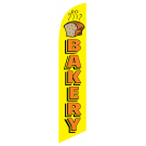 Bakery Feather Flag Yellow 12ft Poly Knit