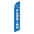 Handicap Parking Feather Flag Blue 12ft Poly Knit