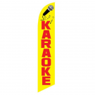 Karaoke Feather Flag Yellow & Red 12ft Poly Knit