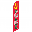 Si Se Puede Feather Flag Red & Yellow 12ft Poly Knit