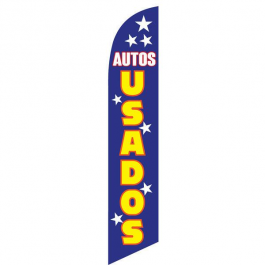 Auto Usados Feather Flag Blue 12ft Poly Knit width=
