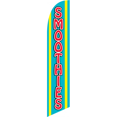 Smoothies Feather Flag Blue & Yellow 12ft Poly Knit width=