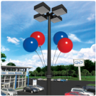 Duraballoon Light Pole Kit - 4pack