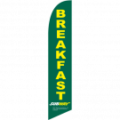 Subway Breakfast Feather Flag Green 12ft Poly Knit