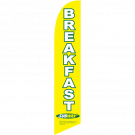 Subway Breakfast Feather Flag Yellow 12ft Poly Knit