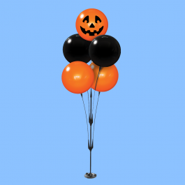 Outdoor Reusable Halloween Balloon Decorations - Prop 5-balloon Cluster Kit With Ground Spike width=