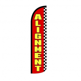 Alignment ( red / yellow ) Feather Flag 12ft Poly Knit width=